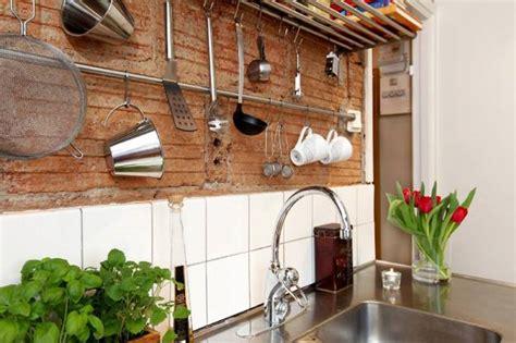 modern kitchen decor  brick walls  interior