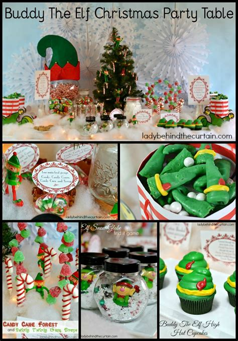 theme names for holiday parties buddy the elf christmas party table