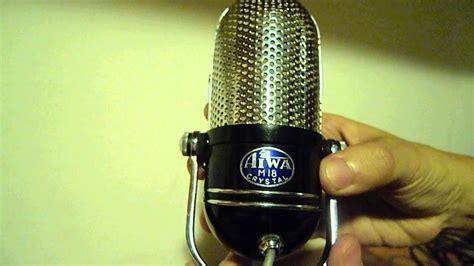 Mic Microfon Microphone Aiwa System Kabel antiguos micr 243 fonos aiwa vintage microphone aiwa