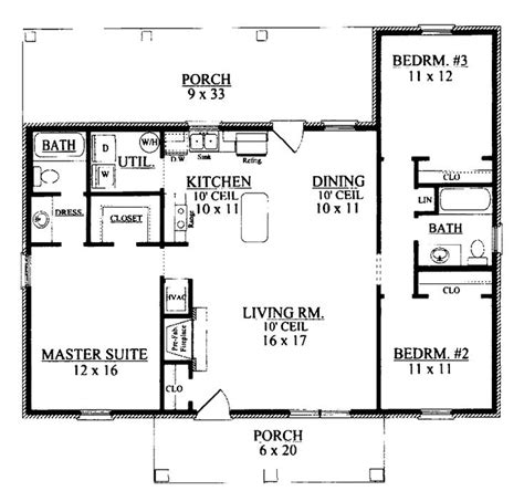 Ranch 3 Bedroom House Plans by 3 Bedroom Ranch Floor Plans Three Bedroom Ranch Home