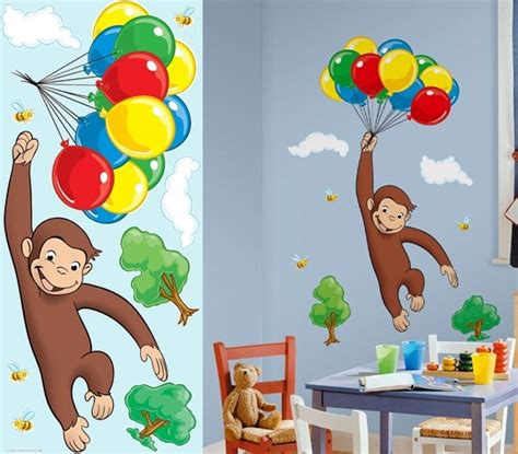 curious george wall stickers curious george wall decals 1000 ideas about curious