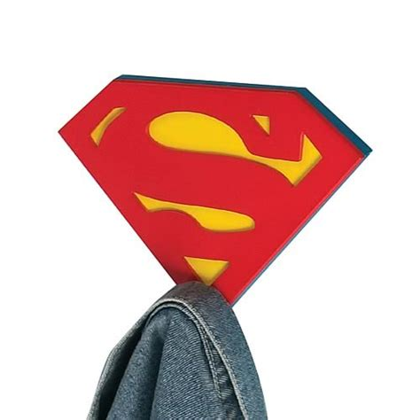 superman home decor superman shield wall hook vandor superman home decor at entertainment earth item archive