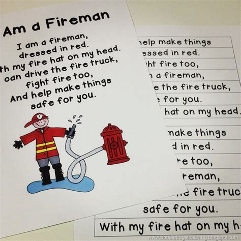 theme song home fires quot i am a fireman quot poem song community helpers pinterest