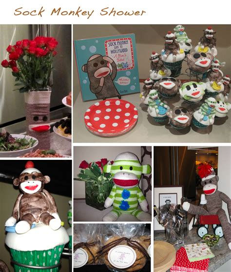 baby shower decorations monkey theme sock monkey baby shower decorations best baby decoration