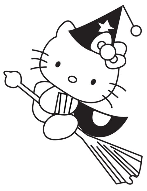 hello kitty witch coloring pages witch halloween coloring pages hello kitty coloring kids