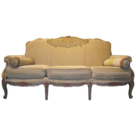 gold sofas for sale napoleon iii french style sofa in beige chenille frame