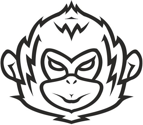 monkey tribal tattoo monkey clipart best