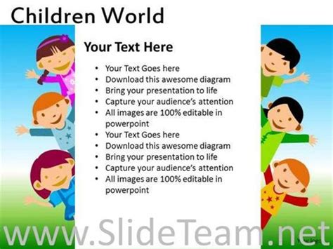 Kids Powerpoint Templates Powerpoint Template Children S Book Powerpoint Template