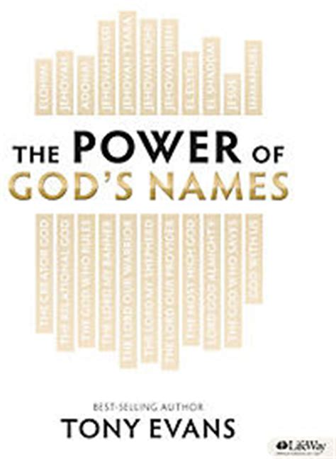god of creation leader kit a study of genesis 1 11 books the power of god s names leader kit tony