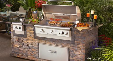 Building Kitchen Island by Penn Stone American Outdoor Grill