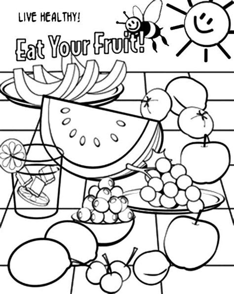 printable coloring pages healthy eating food nutrition coloring pages coloring pages az