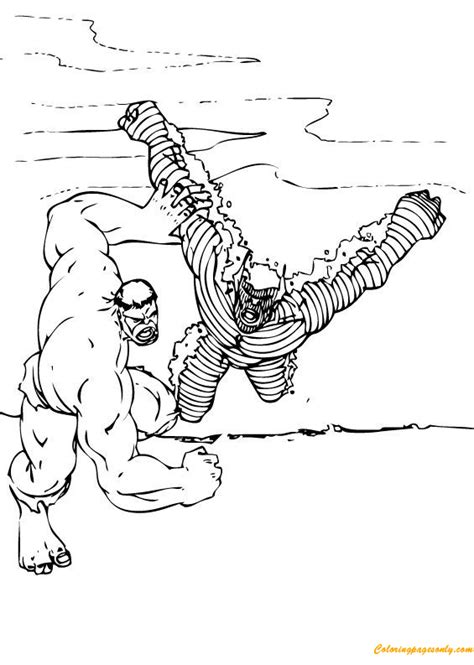 hulk abomination coloring pages the hulk vs abomination coloring page free coloring