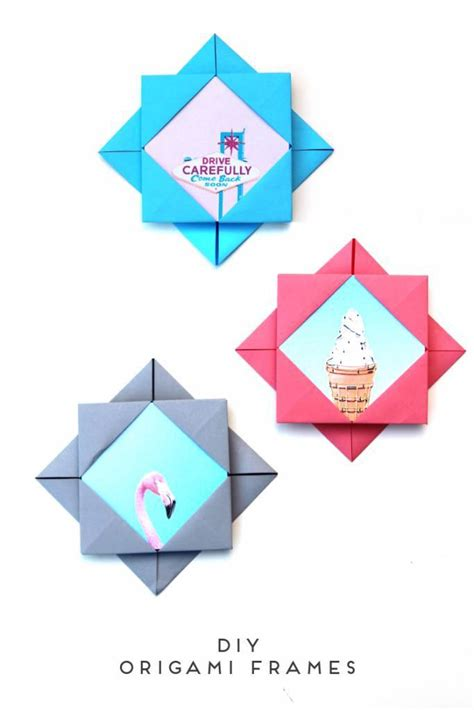 Origami Scrapbook - these diy origami photo frames will brighten up your