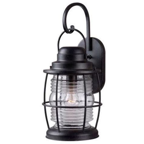 kenroy home harbor 1 light aged iron outdoor large wall