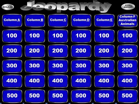 Jeopardy Template Powerpoint Madinbelgrade Jeopardy Template Ppt Free