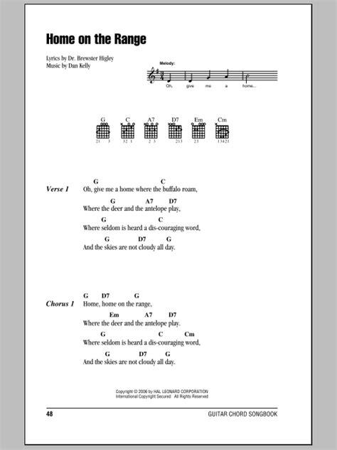 printable lyrics home on the range home on the range sheet music direct