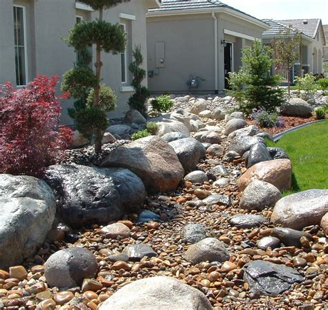 Rock Garden Bed Ideas River Bed Landscaping Ideas Landscape Installation Truckee River Rock Nursery