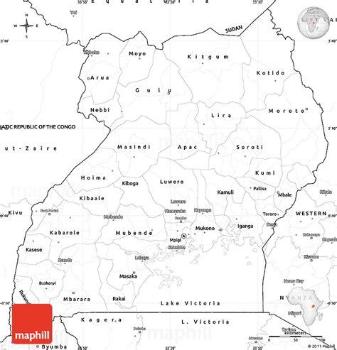 uganda map coloring page blank simple map of uganda