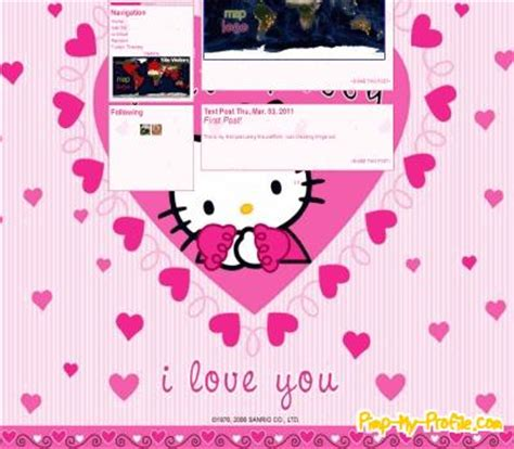 hello kitty tumblr themes hello kitty in heart tumblr themes pimp my profile com