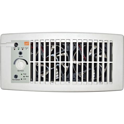 ceiling register booster fan suncourt flush fit register booster fan in white hc500 w
