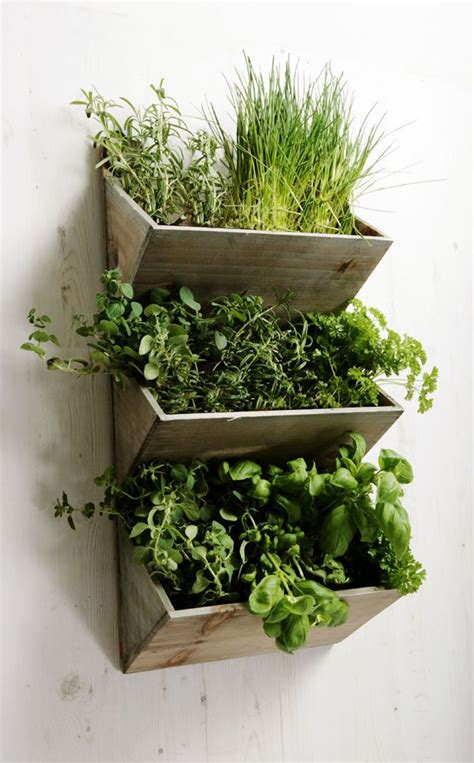 patio herb planters shabby chic large wall hanging herbs planter kit wooden