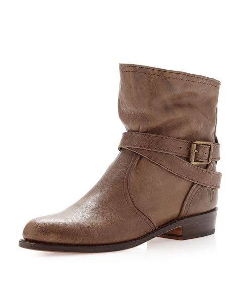 frye dorado slouch boot in brown taupe lyst