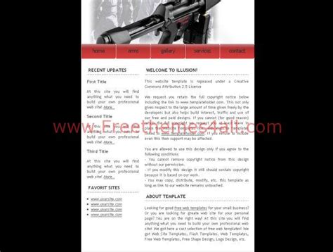 small arms black css template
