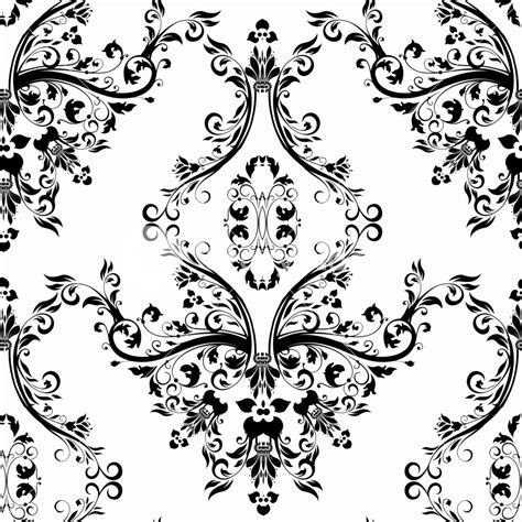 black and white victorian pattern vector victorian seamless pattern royalty free stock image