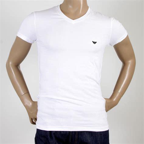 Armani T Shirt emporio armani t shirts white v neck t shirt 110752 cc518