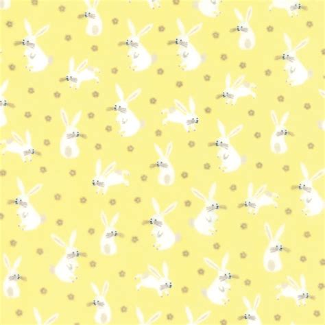 yellow devil pattern sweet baby flannel yellow bunny