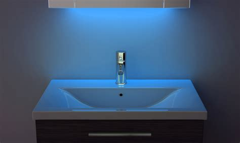 bathroom ambient lighting bathroom cabinet with ambient under lighting sensor