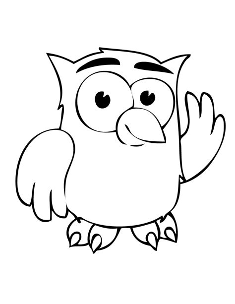 cartoon owl coloring pages clipart best cute owl