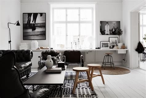 black white home decor timeless black and white apartment with its own personality digsdigs