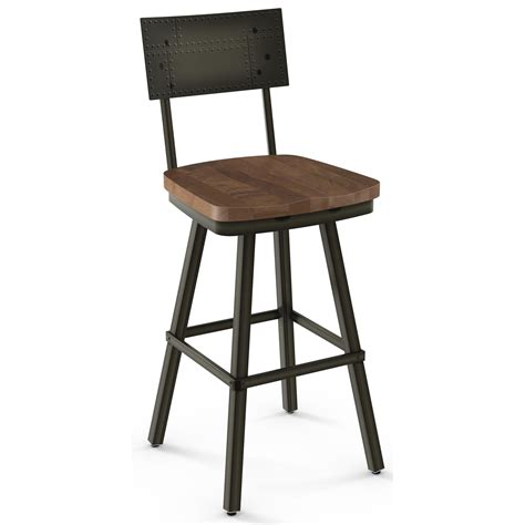 30 Bar Stools Furniture by Amisco Industrial 30 Quot Bar Height Jetson Swivel Stool