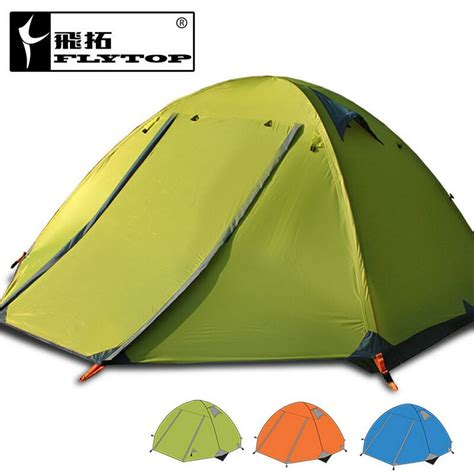 Tenda Orange 3 4 Persons Lining Family Outdoor Waterproof ᗖflytop aluminum pole frame tents tents outdoor hiking and cing ᗗ cing cing tent for