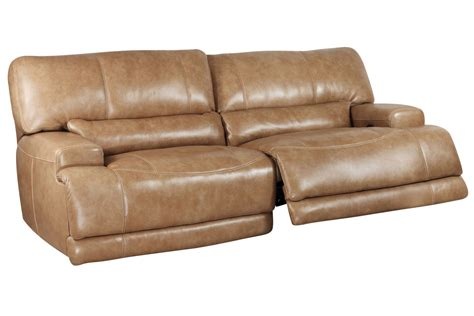 hamlin power reclining leather sofa