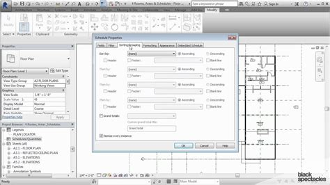 tutorial revit 2015 revit 2015 tutorial creating a room schedule black