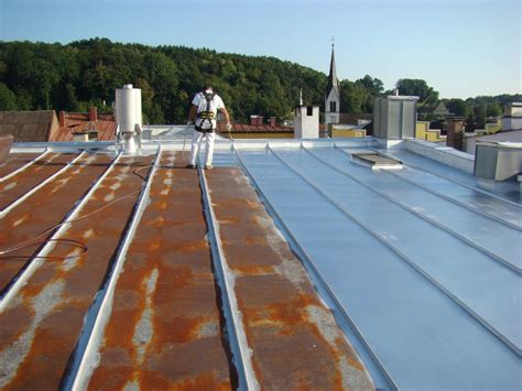 Verrostetes Metall Streichen by Dachtec Gmbh Sanierung Reinigung Beschichtung Und
