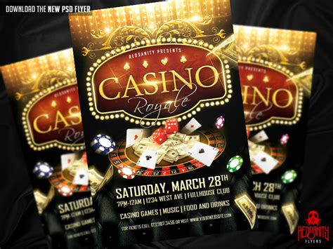 Casino Royale Flyer Psd Template By Iamredsanity On Deviantart Casino Flyer Template Free