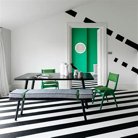 striped rooms dining room with diagonal striped flooring black and
