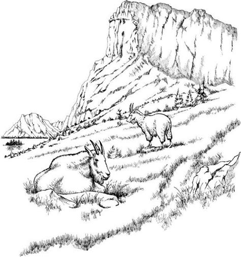 Coloring Page Landscapes Coloring Pages Landscape Coloring Page Wood Carving