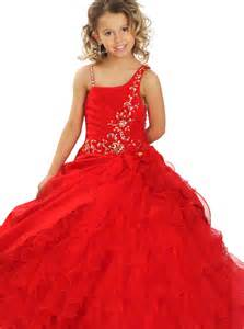 red gown dressed up