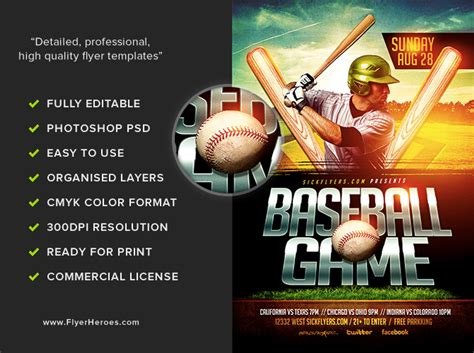 Baseball Flyer Template Flyerheroes Baseball Flyer Template
