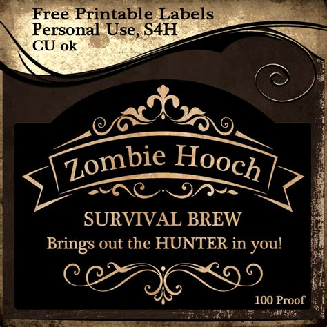 printable zombie labels free printable zombie signs images
