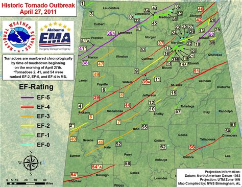 map of tornadoes today historic outbreak of april 27 2011
