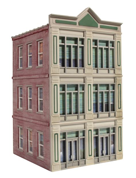 3 story building ameri towne o scale 1st national bank 3 story building kit