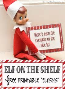 on the shelf printable elfisms