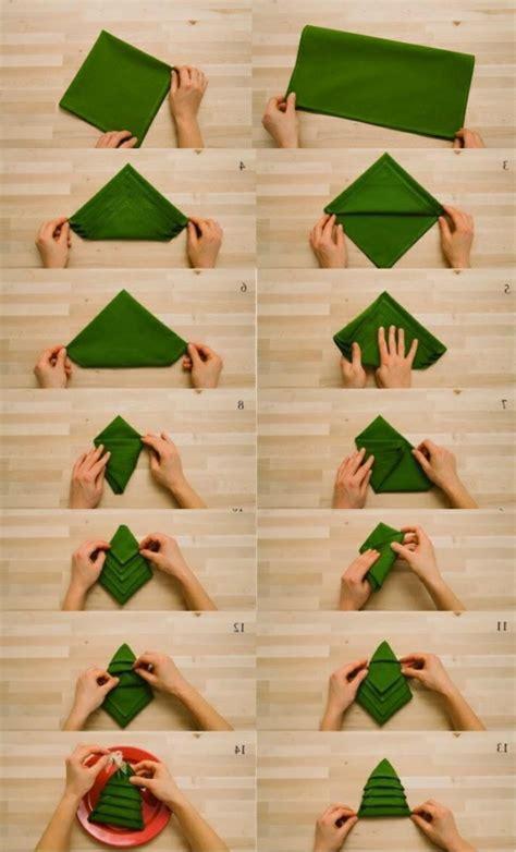 Papier Tannenbaum Falten by Serviette Zum Tannenbaum Falten Bilder19