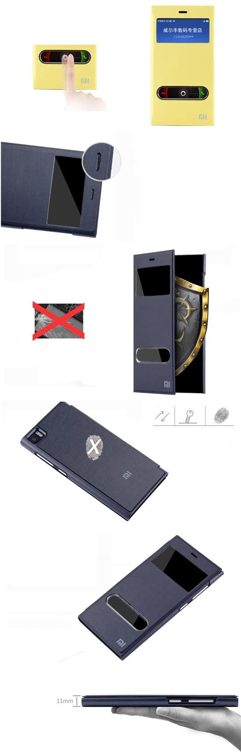 Flip Cover Leather Standing Back Cover Casing Xiaomi Redmi Note 4 black luxury window standing flip smart view pu leather