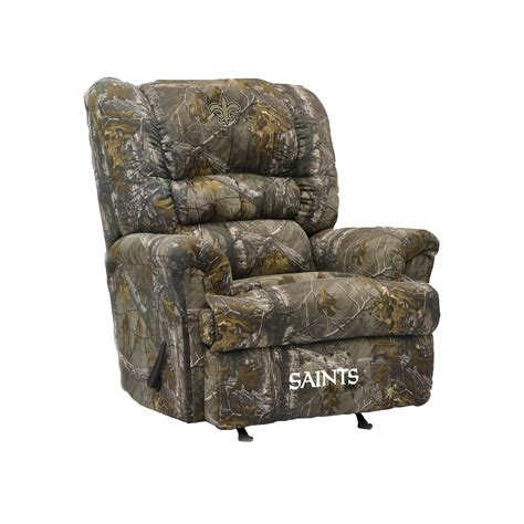 New Orleans Saints Recliner by New Orleans Saints Big Camo Recliner New Orleans